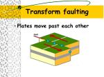 transform faulting