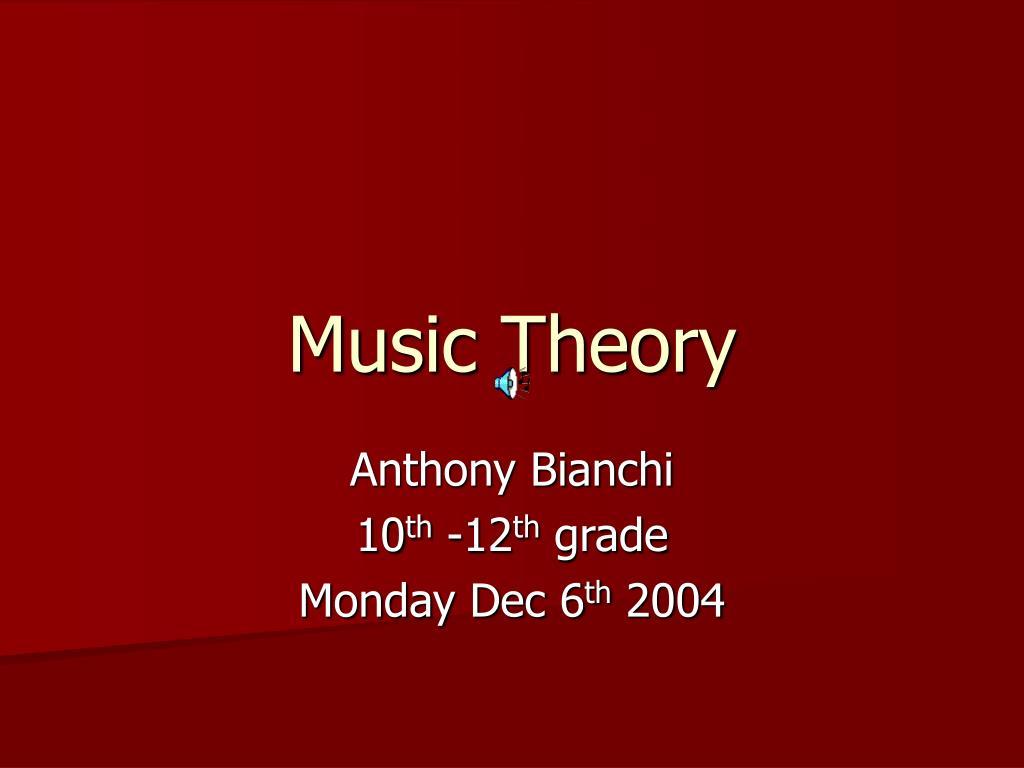 music theory l.