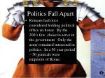 politics fall apart