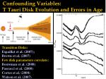 confounding variables t tauri disk evolution and errors in age