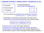 a mikrokanonikus formalizmus sszefoglal sa