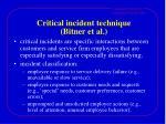 critical incident technique bitner et al