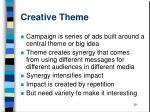 creative theme