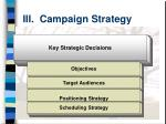 iii campaign strategy
