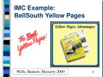 imc example bellsouth yellow pages
