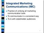 integrated marketing communications imc