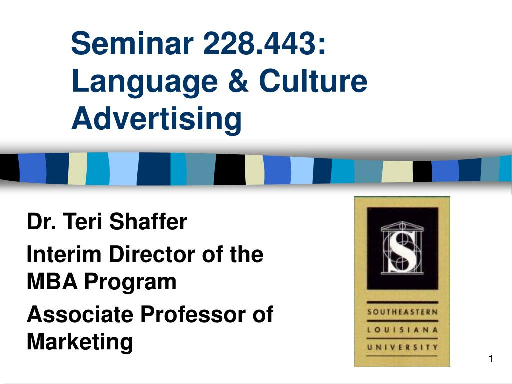 seminar 228 443 language culture advertising l.