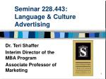 seminar 228 443 language culture advertising