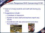 crisis response drill concerning h1n1