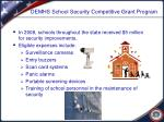 demhs school security competitive grant program
