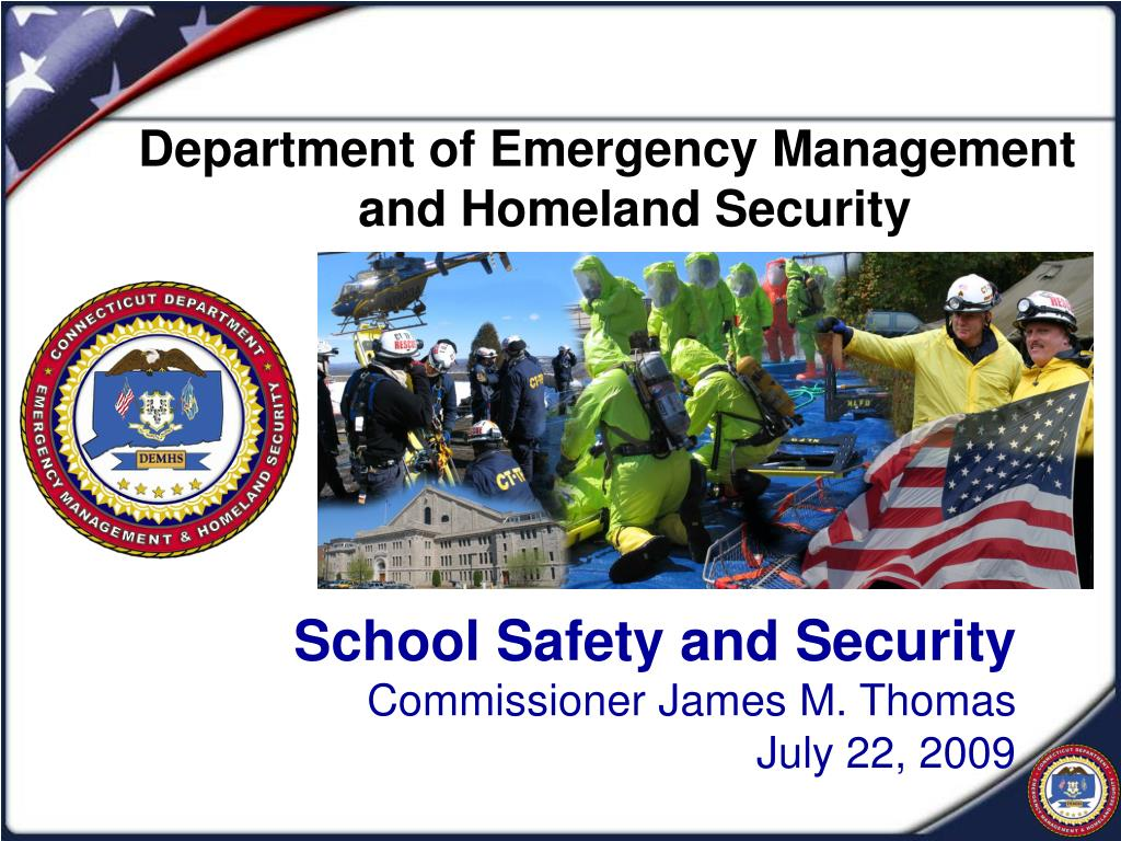 school safety and security commissioner james m thomas july 22 2009 l.