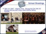 school shootings