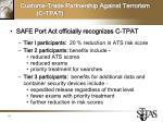 customs trade partnership against terrorism c tpat