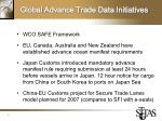 global advance trade data initiatives