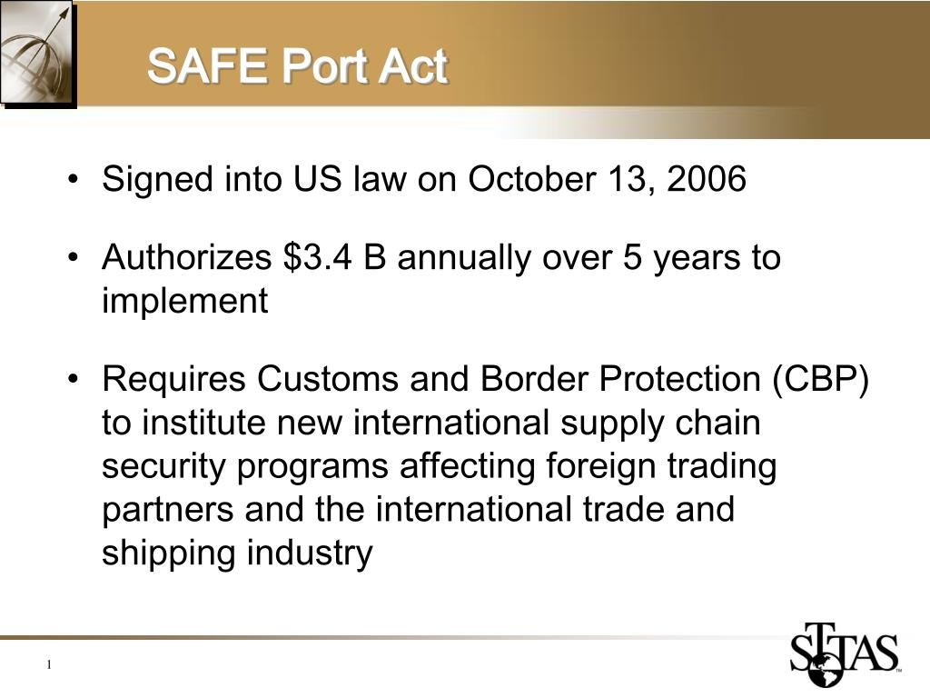 safe port act l.