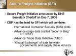 secure freight initiative sfi