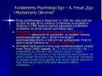 fundamenty psychologii ego a freud ego i mechanizmy obronne