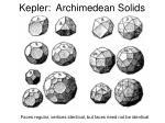 kepler archimedean solids