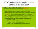 istac individual student evaluation what is in the tool box