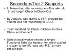 secondary tier 2 supports