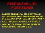 responsabilita post esame