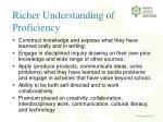 richer understanding of proficiency