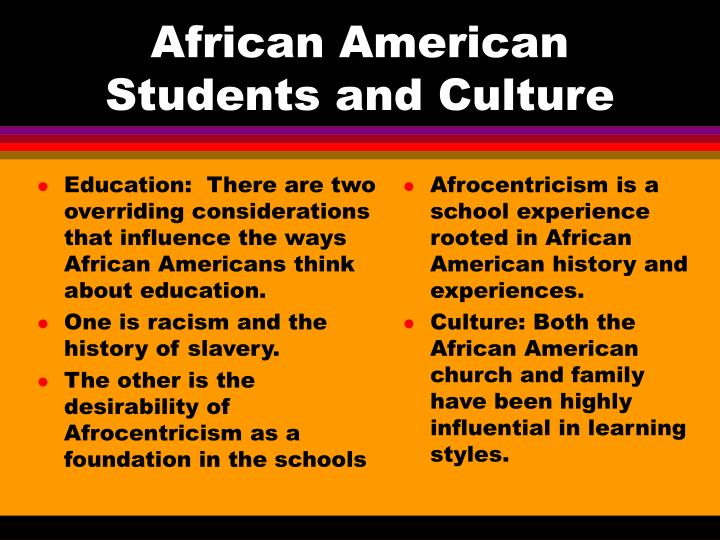 ppt learning styles and the african american student powerpoint