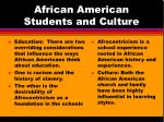 african american students and culture