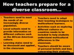 how teachers prepare for a diverse classroom