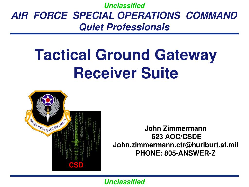 tactical ground gateway receiver suite l.