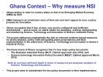 ghana context why measure nsi
