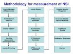 methodology for measurement of nsi
