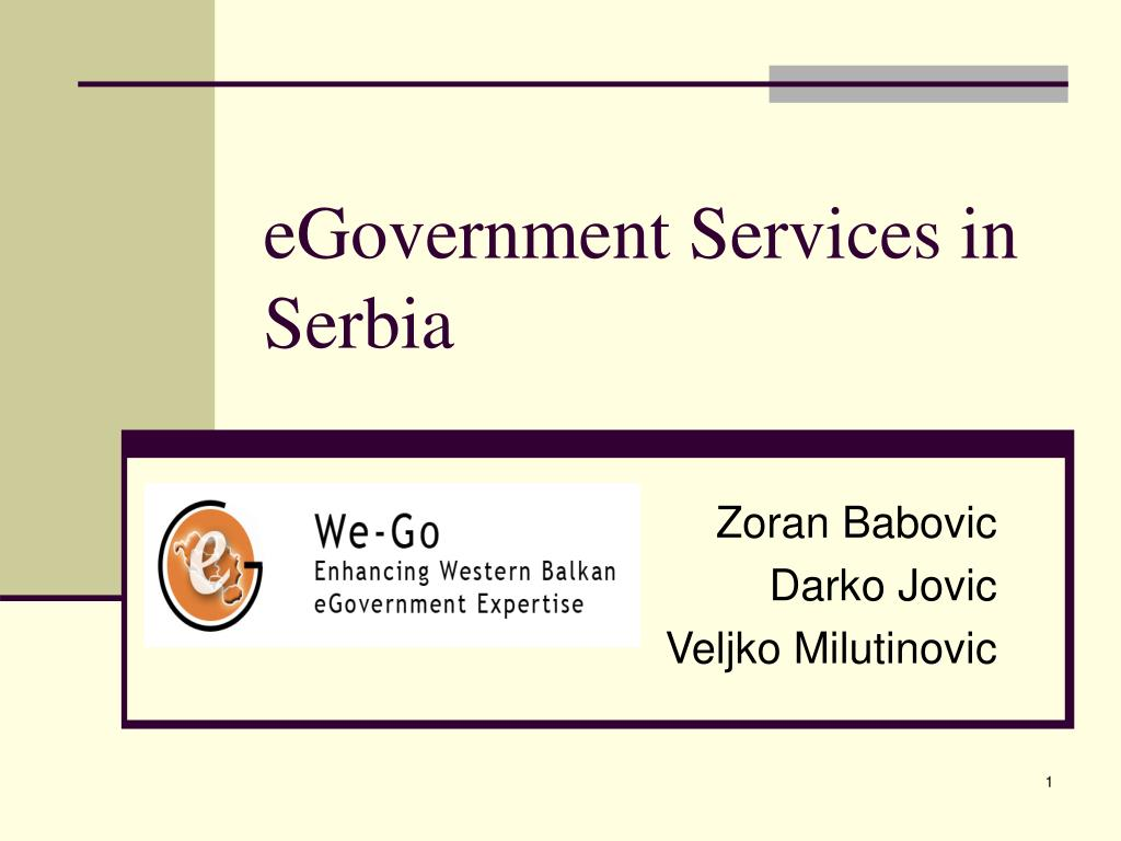 egovernment services in serbia l.