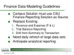 finance data modeling guidelines