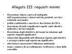 allegato iii requisiti minimi