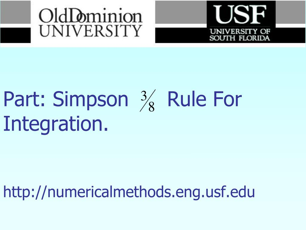 numerical methods part simpson rule for integration http numericalmethods eng usf edu l.