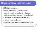 representative learning tasks
