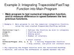 example 3 integrating trapezoidal fasttrap function into main program