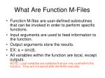 what are function m files