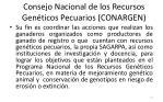 consejo nacional de los recursos gen ticos pecuarios conargen11
