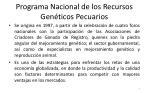 programa nacional de los recursos gen ticos pecuarios