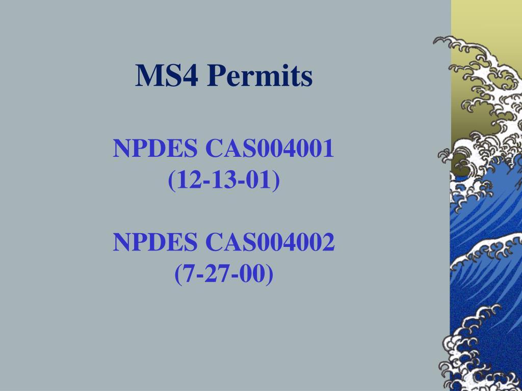 MS4 Permits