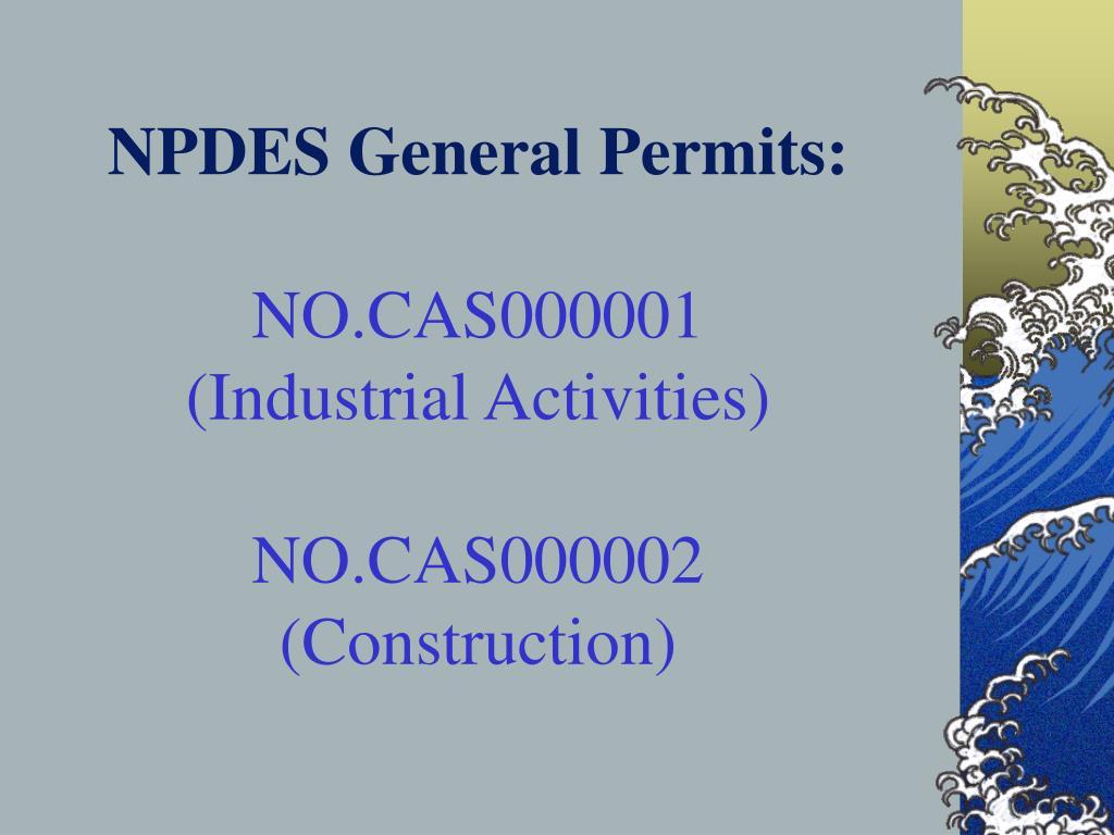 NPDES General Permits:
