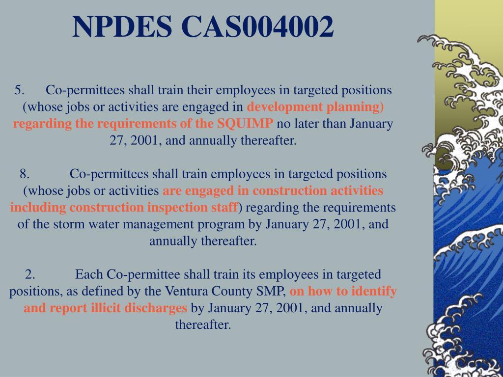 NPDES CAS004002