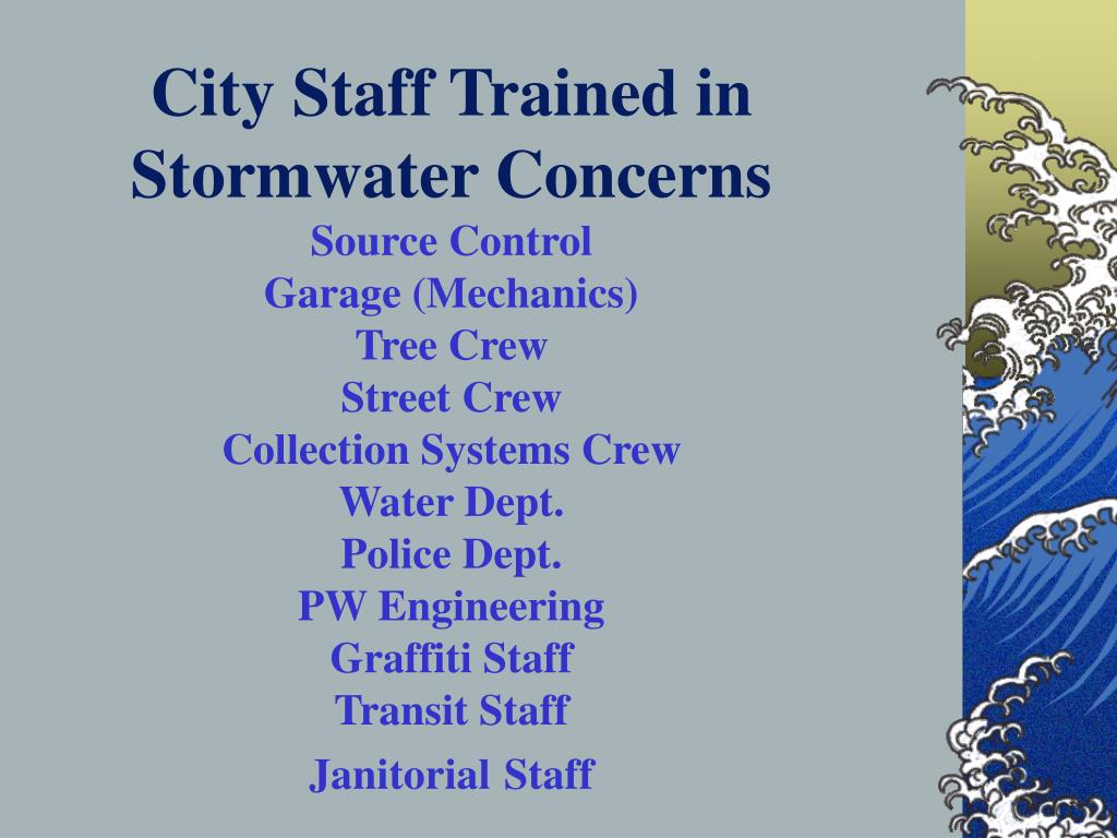 City Staff Trained in Stormwater Concerns