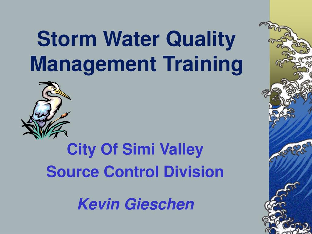 Storm Water Quality Management Training