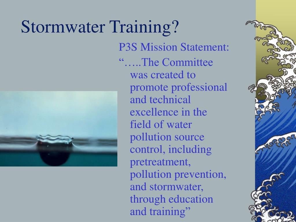 Stormwater Training?