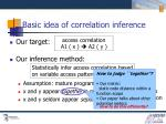 basic idea of correlation inference