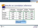 results on correlation inference
