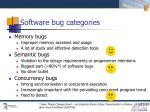 software bug categories